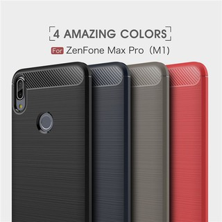 Review เคส Asus Zenfone Max Pro M1 M2 ZB555KL ZB601KL ZB602KL ZB631KL ZB633KL Cover Shockproof Soft TPU Brushed Back Case