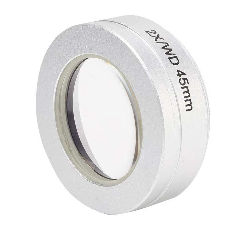 Nobrand 2X Auxiliary Objective Lens for Stereo Microscope 54.8mm WD45mm mounting Thread Microscope Accessories