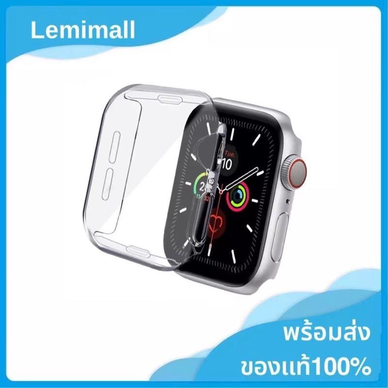 เคส applewatch เคส สำหรับ AppleWatch ขนาด 38 มม. 40 มม. 42 มม. 44 มม. ซิลิโคนอ่อนนุ่มหุ้มใสสำหรับ iWatchSeries 5/4/3/2/1