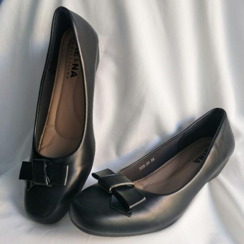 NE&NA รองเท้าคัชชู รองเท้าทำงานสีดำสุภาพ