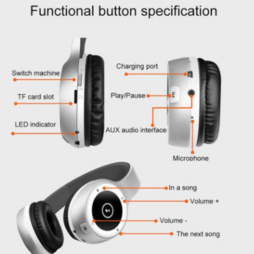 ชุดหูฟังบลูทู ธ Bluetooth พับ Headphones Hi-Fi Stereo เบสหนัก Bluetooth  Earphones/Wireless Headset Foldable