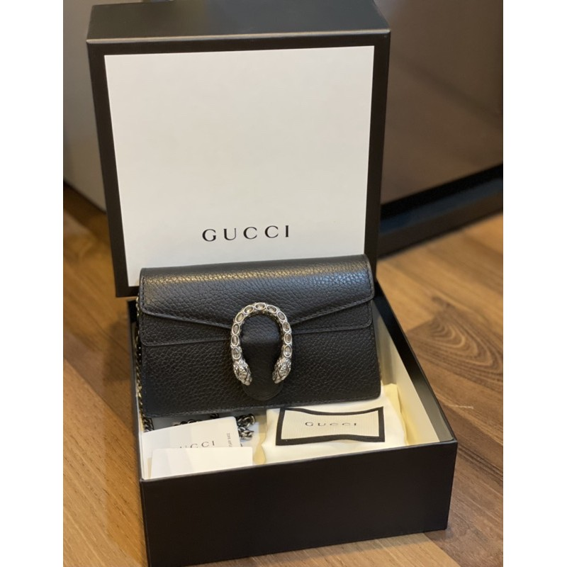 Used Gucci Dionysus leather supermini crystal