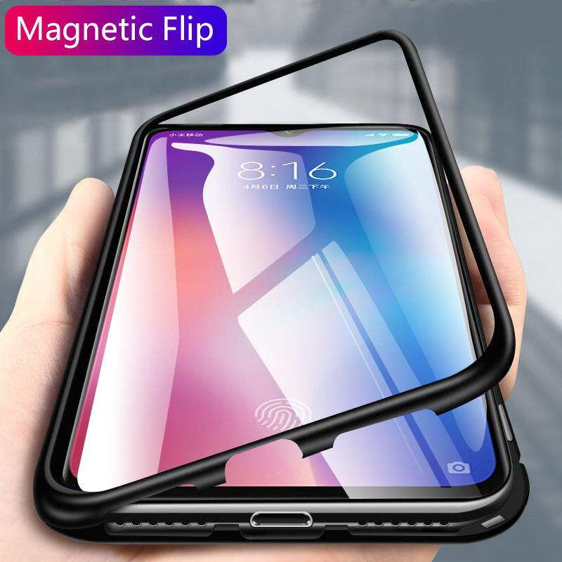 Review Magnetic Case Xiaomi Mi 9 Mi9 SE Clear Tempered Glass Hard Back Cover