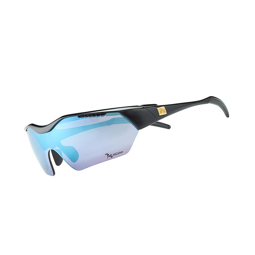 แว่นตากันแดด 720armour รุ่น Hitman ( Asian-Fit) สีกรอบ Glossy Black สีเลนส์ HC Violet Lake Blue