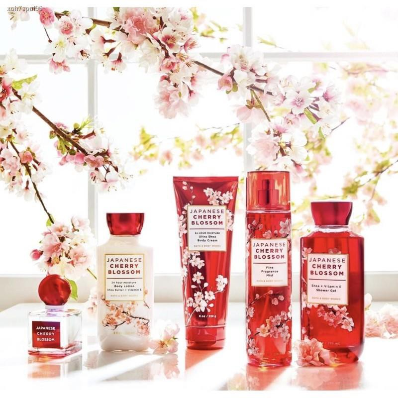 Lowest price✗❁▬Bath & Body Work Signature Collection Japanese Cherry Blossom Ultra Shea Lotion 8 oz / 236 g.โลชั่นน้ำหอ