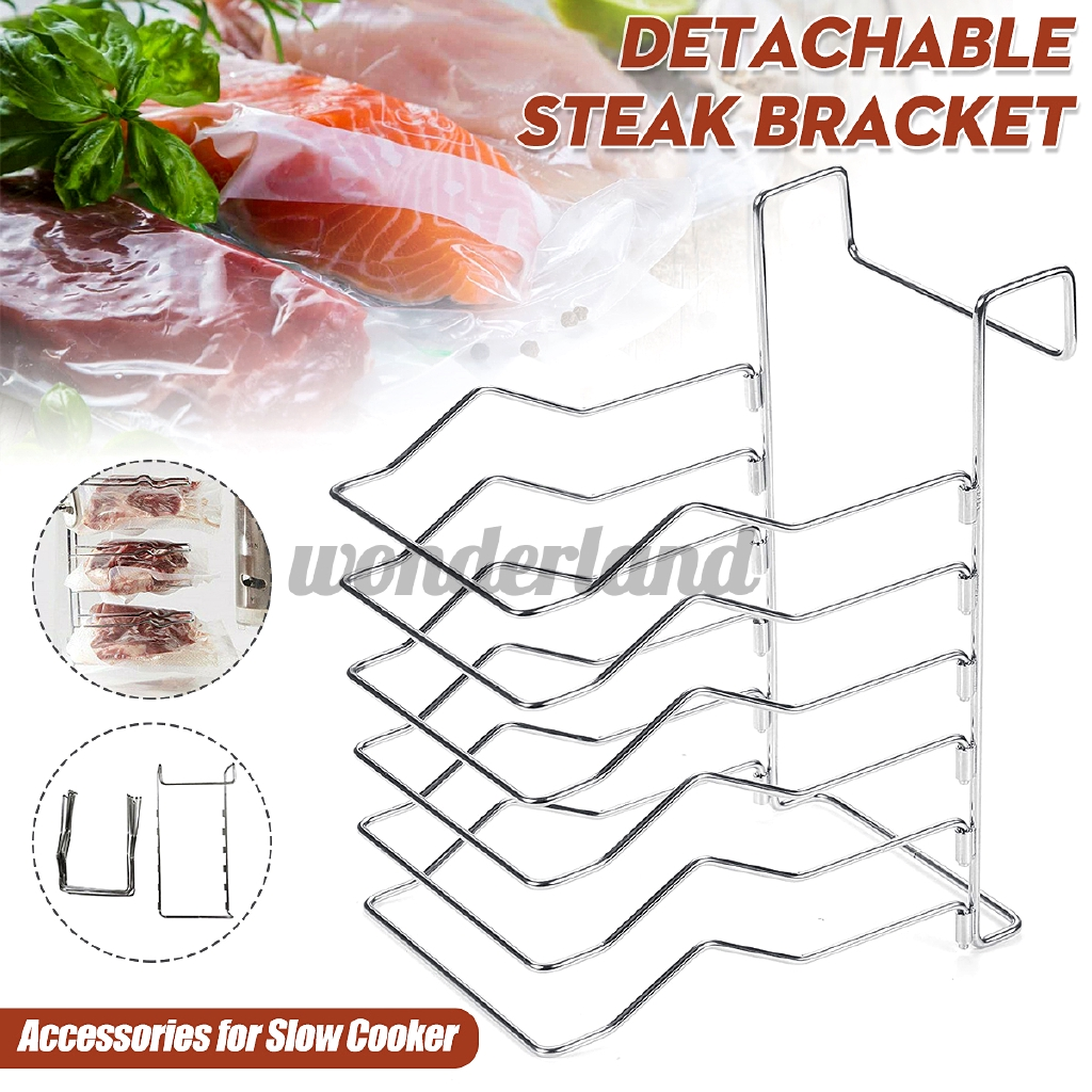 Steak Bracket Multi-Layer Display Detachable Free Assembly Slow Cooker Accessories Stainless Steel Food Rack