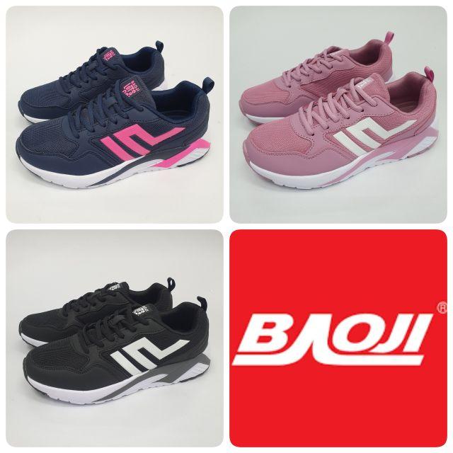BAOJI รองเท้าผ้าใบหญิง รุ่น BJW533 ไซส์ 37-41 สีกรม สีชมพู