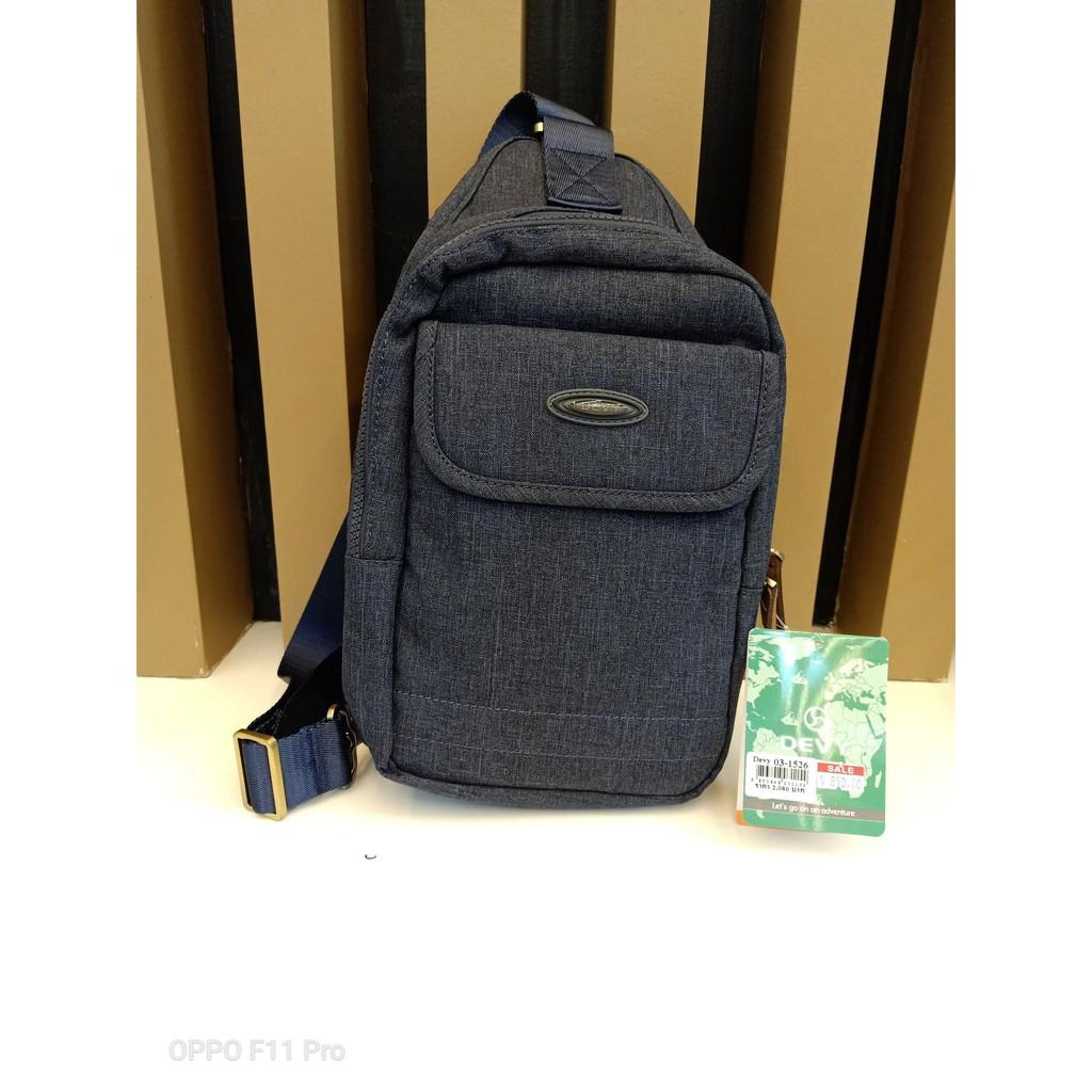กระเป๋าสะพายข้าง Devy รุ่น 03-1526 ราคาพิเศษ 890 สีกรมท่า