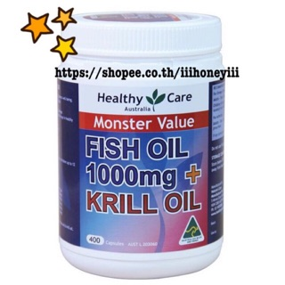 Review Healthy Care Fish Oil 1000mg & Krill 400 Capsules