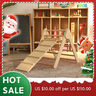 Montessori 3Pcs Pikler Climbing Arch Pikler Ramp Triangle Baby Toys Climbing Toddler Wooden Gym Kindergarten Full Sets D
