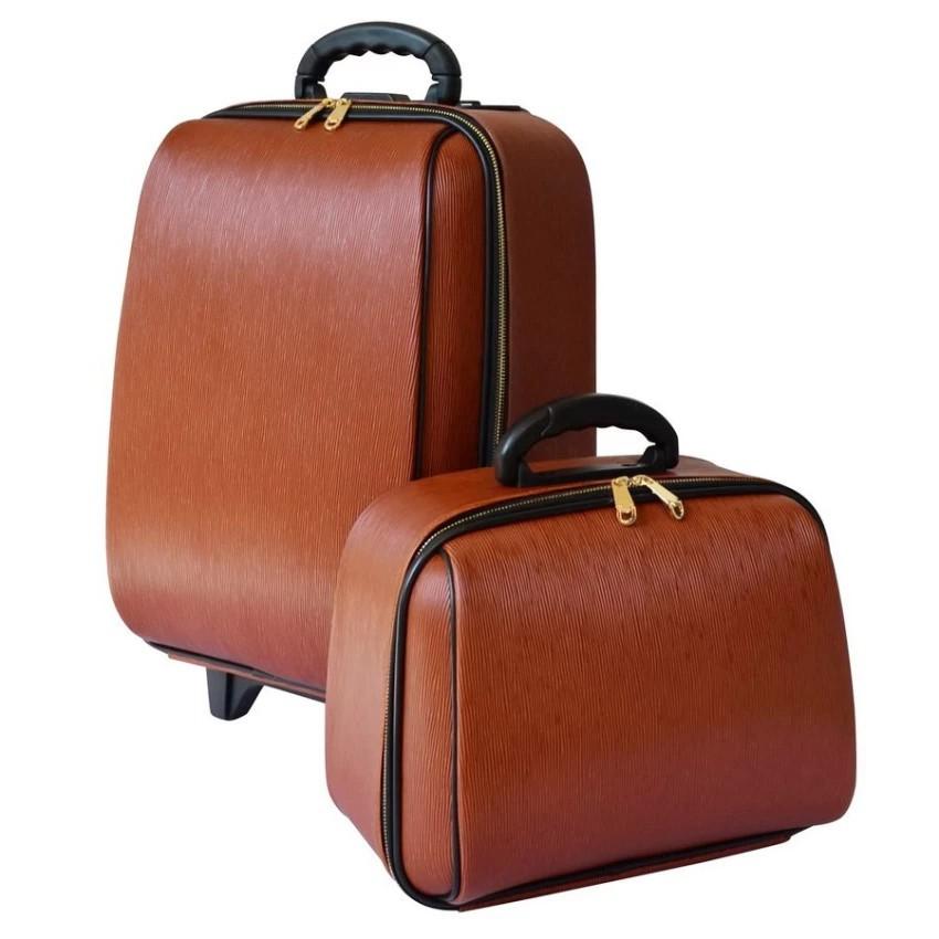 กระเป๋าเดินทาง กระเป๋าเดินทางล้อลาก BB-Shopเซ็ทคู่ 18/14 นิ้วL-Louise Classic (Light Brown) กระเป๋าล้อลาก กระเป๋าเดินทาง