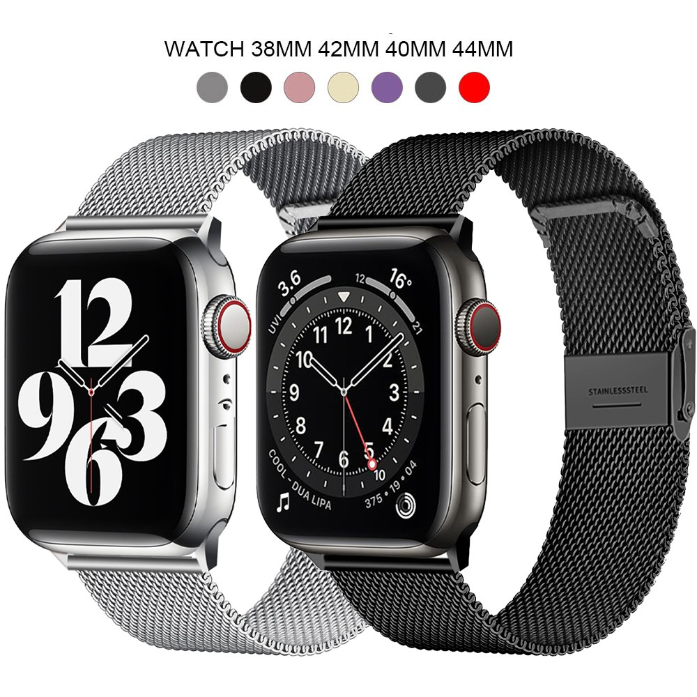 Milanese Loop Bracelet Stainless Steel band For Apple Watch series 1 2 3 42mm 38mm strap for iwatch 4 5 SE 6 40mm 44mm w