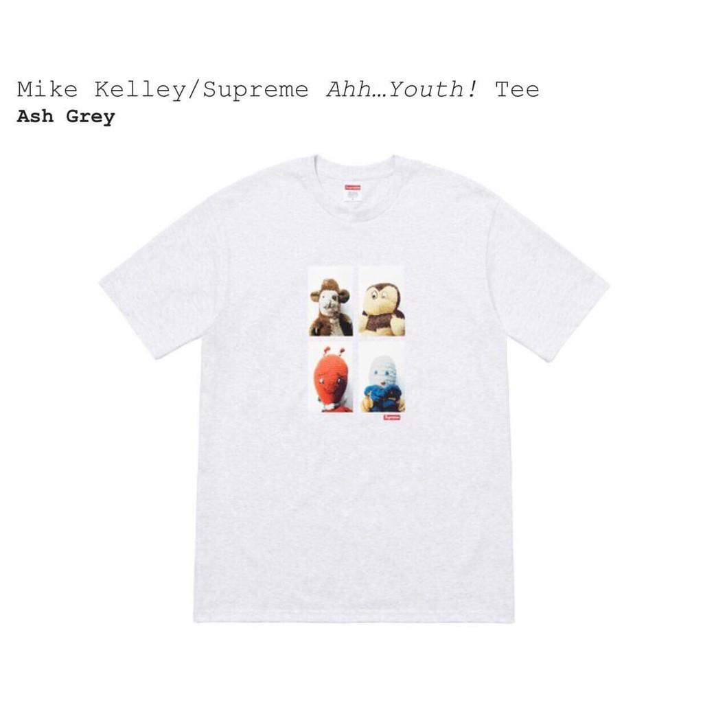 เสื้อ Supreme ของแท้ รุ่น Mike Kelley/Supreme Ahh…Youth! Tee (grey) size M