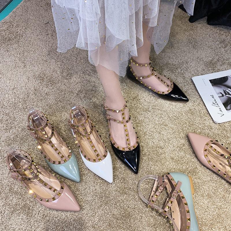 รองเท้าคัชชู ส้นแบนหัวแหลม รองเท้าแตะแฟชั่นผู้หญิง รองเท้าคัทชูผู้หญิง รองเท้าคัชชูแฟชั่น