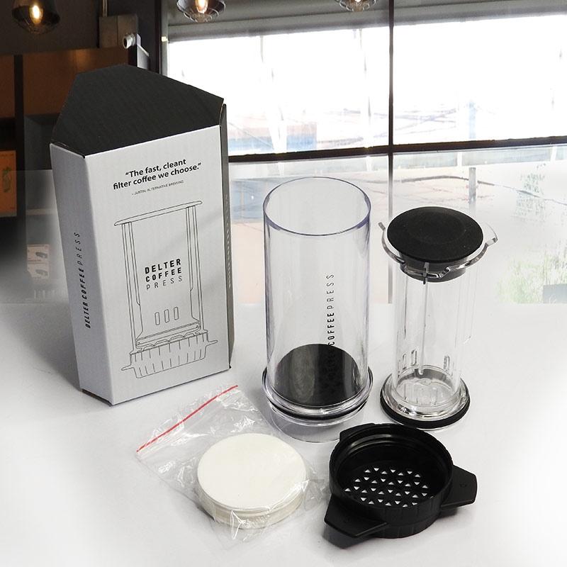 เครื่องทำกาแฟพกพา Delta Coffee Press 400ml  by gracetime
