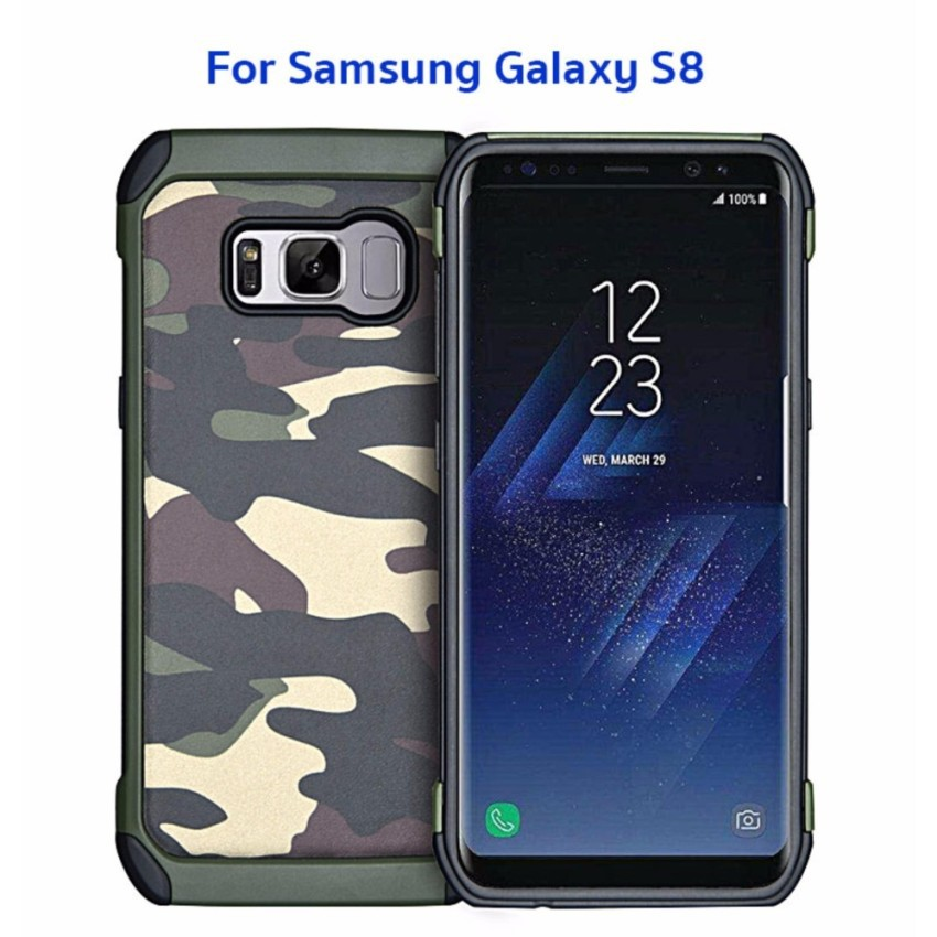 NX Case รุ่น Camo Series เคสลายทหาร กันกระแทก ของแท้ สำหรับ ForSamsung Galaxy S8 #471