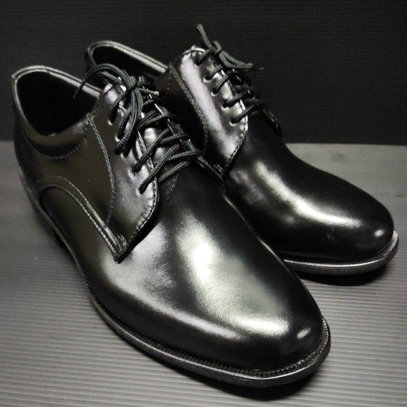 ???รองเท้าคัดชูรองเท้าหนังขัดเเบบผูกเชือก 5 รู หนังเเท้100%ถูกต้องตามระเบียบตำรวจทหาร.