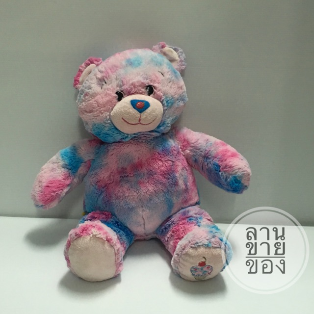 หมีบิ้วไอศครีม Build-A-Bear Workshop Plush Baskin Robbins Bubble Gum Ice Cream Teddy Bear BABW