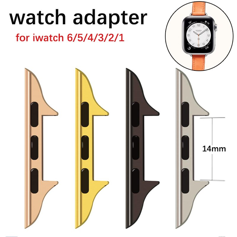 Thin Metal Connector For Apple Watch Band 42Mm 38Mm 44Mm 40Mm For Iwatch Series 6/Se/5/4/3/2/1 Adapter Accessories