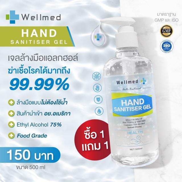 เจลล้างมือ Wellmed 500ml.