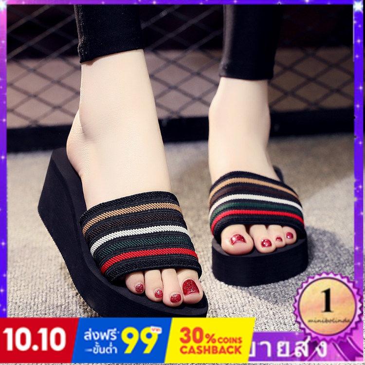 ⭐👠รองเท้าส้นสูง หัวแหลม ส้นเข็ม ใส่สบาย New Fshion รองเท้าคัชชูหัวแหลม  รองเท้าแฟชั่นรองเท้าแตะผู้หญิงมัฟฟินแฟชั่นด้านล่