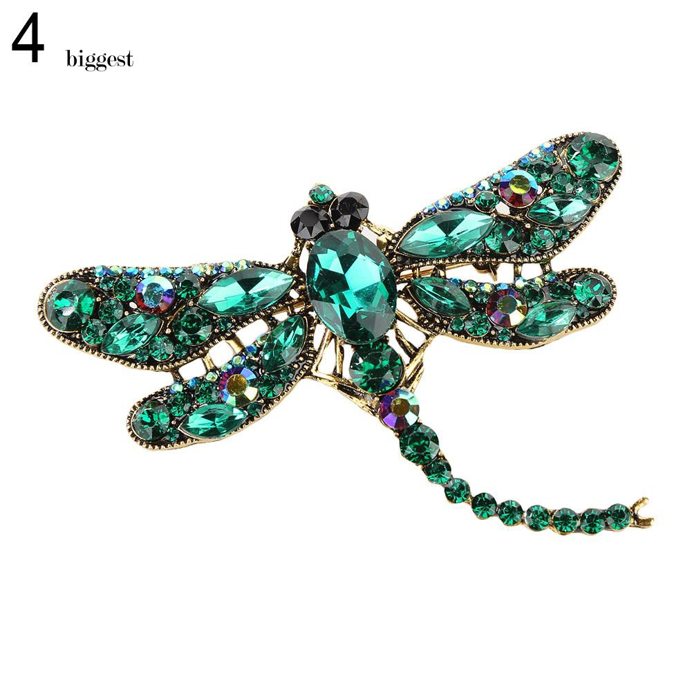 Womens Dragonfly Crystal Brooch Rhinestone Party Scarf Pin Jewelry Gift Well