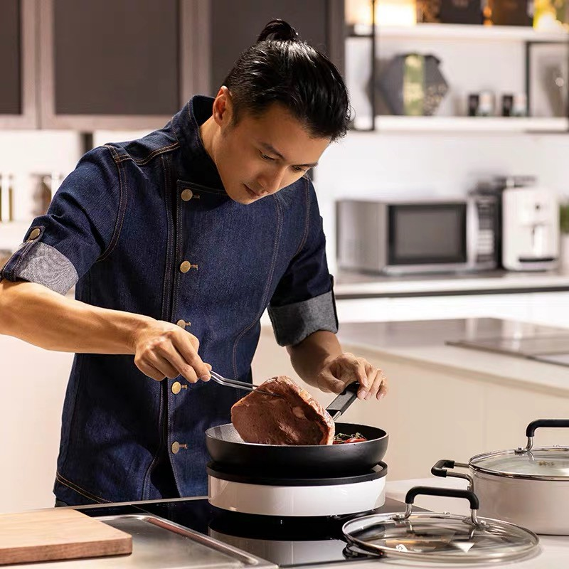 Mijia เตาแม่เหล็กไฟฟ้าในครัวเรือนพลังไฟคู่ความถี่อัจฉริยะควบคุมอุณหภูมิแม่นยำ Xiaomi Fengwei รุ่นที่กำหนดเอง Zhiwu หม้อป