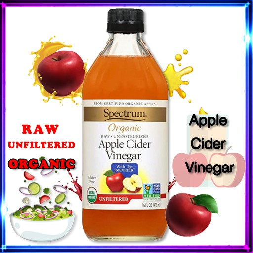 Spectrum ACV น้ำส้มสายชูออร์แกนิคหมักแอปเปิ้ล สเปกตรัม 473 ml. Apple Cider Vinegar แอปเปิ้ลไซเดอร์เวนิกา