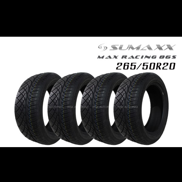 265/50R20 SUMAXX MAX RACING 86S  ชุดยาง (ฟรีจุ๊บยางแท้)