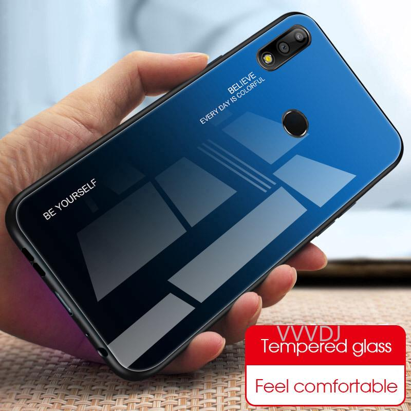 Review Gradient Tempered Glass Case Asus ZenFone Max Pro M1 M2 ZB601KL ZB602KL ZB631KL ZB633KL Case Bumper 360 Protector Cover
