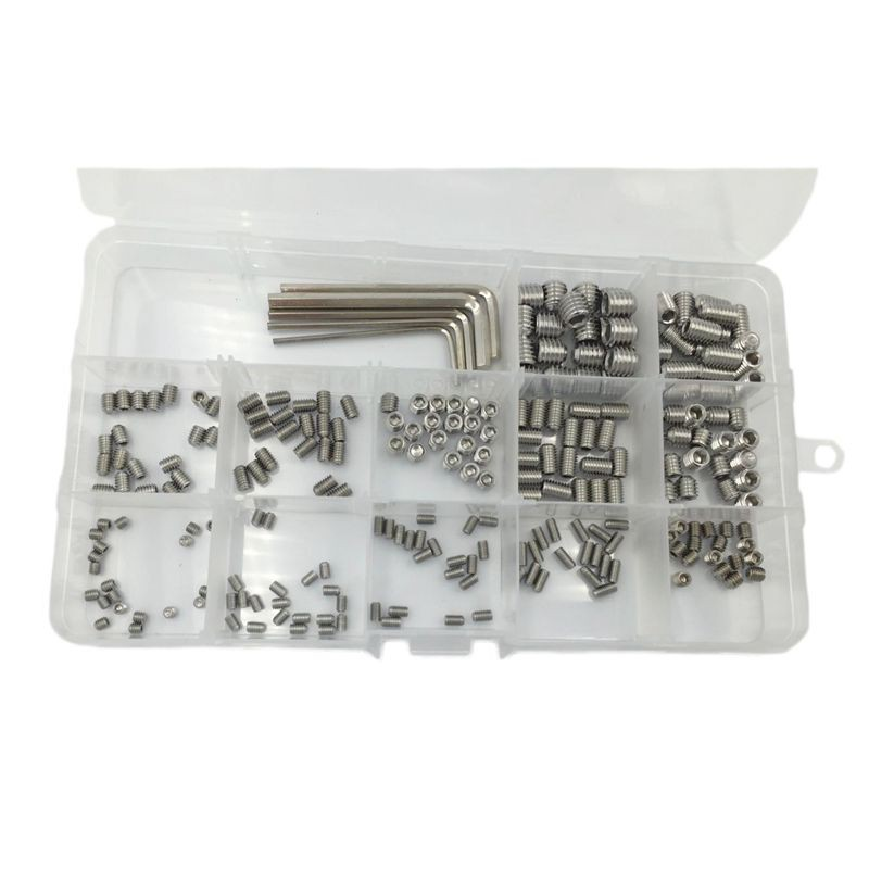 100pcs Assorted Lengths M8 A2 Stainless Steel Socket Button Screws Kit