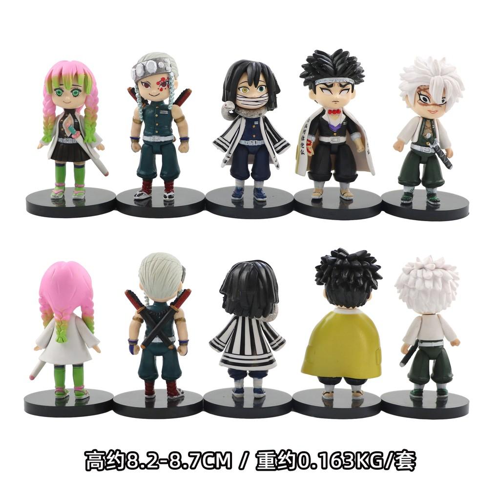 รูป:Anime Demon Slayer Figure Q version Tanjirou Figure Nezuko Zenitsu Kyoujurou Shinobu Toys VC Action Figure Collectio