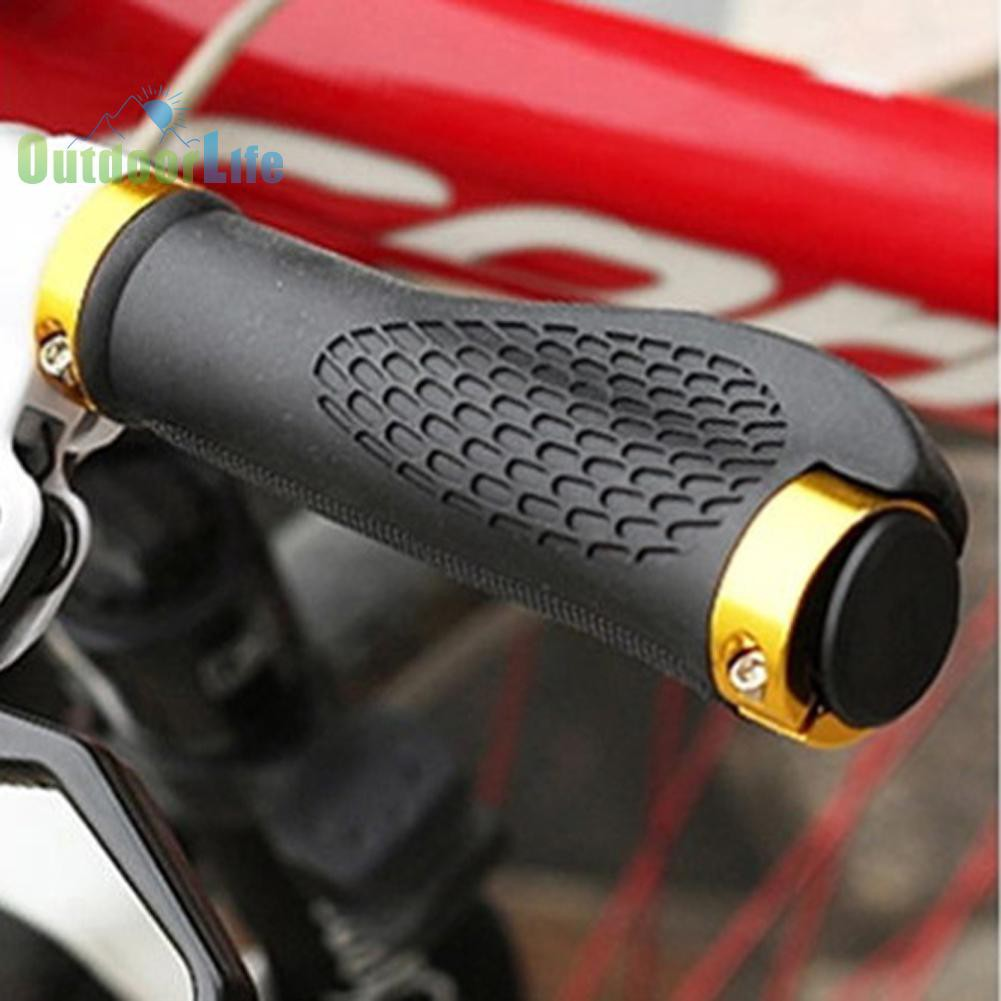 Ergonomic Soft Rubber MTB Mountain Bike Bicycle Handlebar Grips Cycling Lock-On