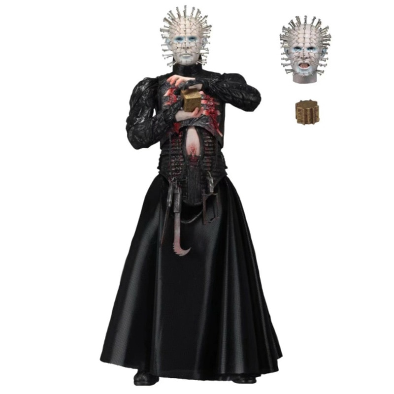 18CM Hellraiser Figure Toy He'll Tear Your Soul Apart PCV Action Figure Toy Figure Model Collectible Doll for Kids Toys