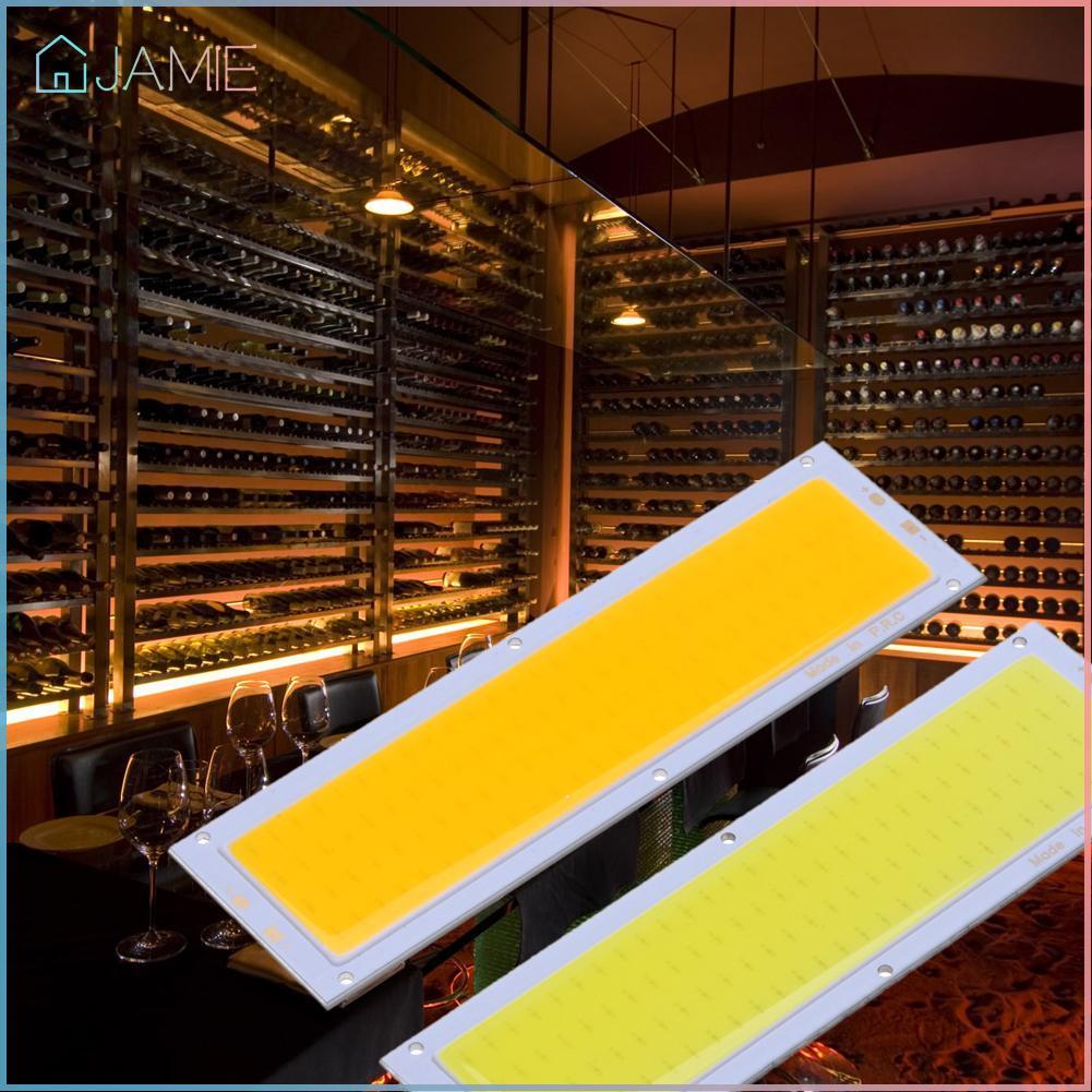 Jamie_12V 10W Cob แผงไฟ Led สายไฟ 120X36 มม. สีขาว / สีขาว