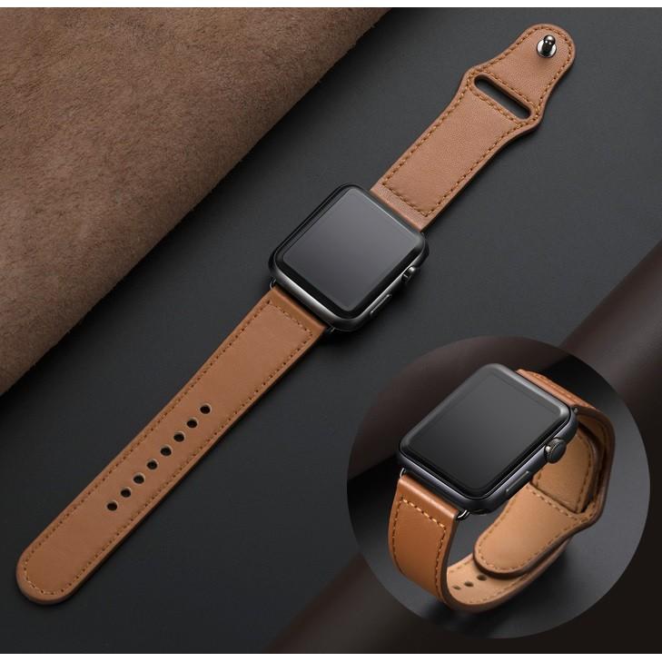 Apple Watch สายนาฬิกา Leather Strap for Iwatch สาย Apple watch Series 6 5 4 3 2 1,Apple Watch SE สายนาฬิกาข้อมือ for app