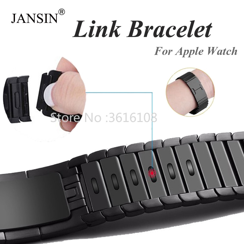 link Bracelet strap For Apple Watch series 5 4 3 2 1 iwatch band 42mm 38mm 40mm 44mm bracelet apple watch Stainless Steel strap