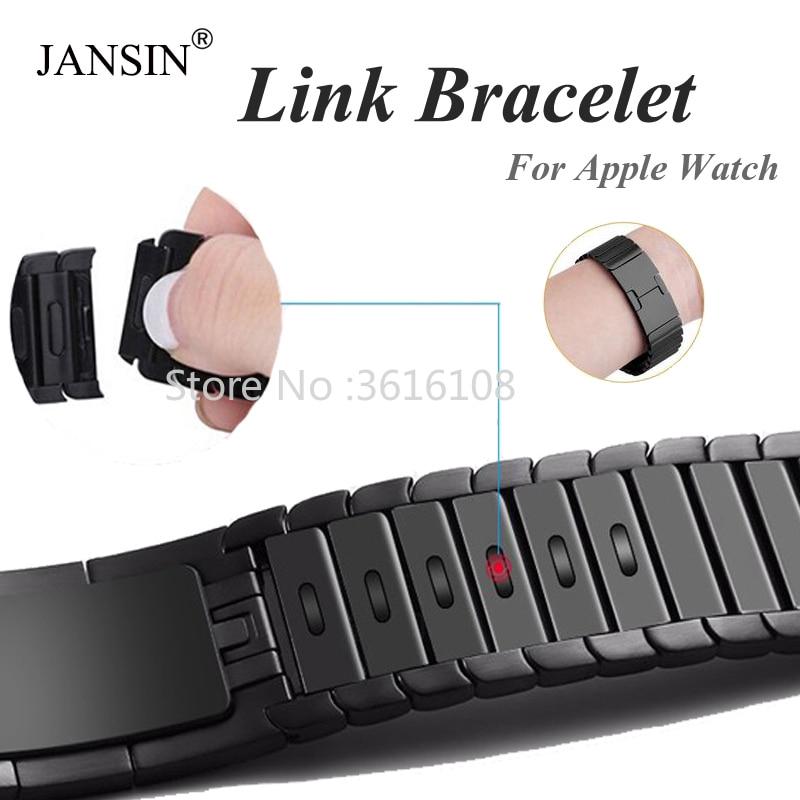 link Bracelet strap For Apple Watch series 5 4 3 2 1 iwatch band 42mm 38mm 40mm 44mm bracelet apple watch Stainless Steel strap