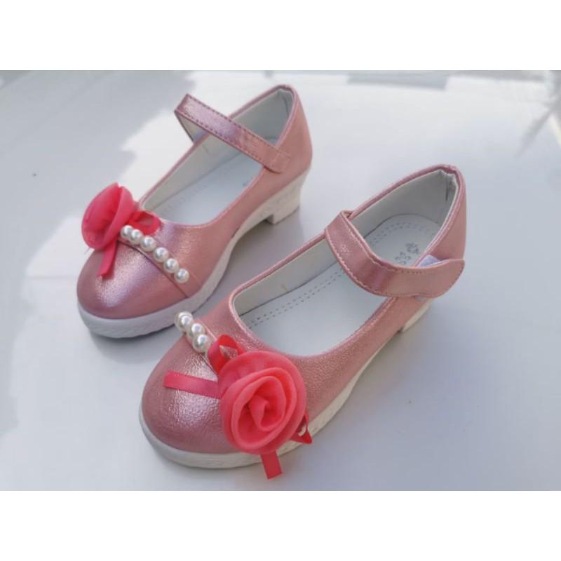 รองเท้าคัชชูส้นสูงเด็กผู้หญิง ใส่ไปเที่ยว ออกงาน เต้น กิจกรรม (26-30)