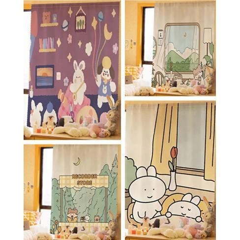 ✨ ผ้าม่านประตู ผ้าม่านหน้าต่าง ผ้าม่านสำเร็จรูป ม่านเวลโครม่านทึบผ้าม่านกันฝุ่น ใช้ตีนตุ๊กแก