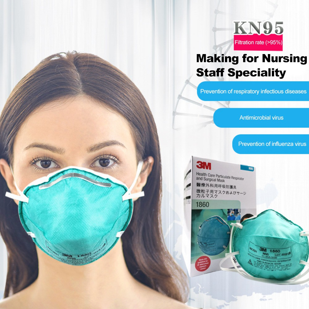 Saliva Antiviral Particulate Women For Respirator 20 Adults 3m Pieces Influenza 1860 Medical Masks Men