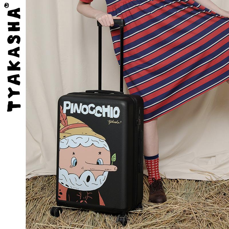 กระเป๋าเดินทางล้อลาก CODTYAKASHATaka Shaเทพนิยายชุดสีดำรถเข็นกระเป๋าเดินทางJFTN39 20-นิ้ว/24-นิ้ว/28-นิ้ว