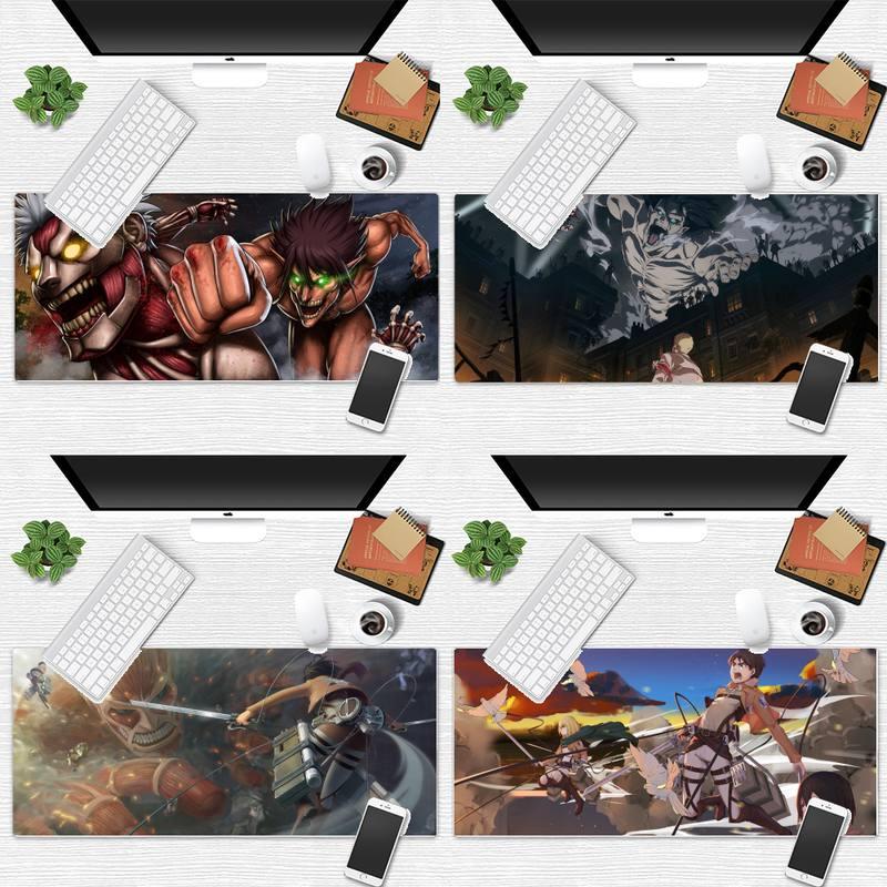 แผ่นรองเมาส์ Ackerman Attack on Titan anime Beautiful Anime Mouse Mat Desk Table Protect Game Office Work Mouse Mat pad Laptop Cushion