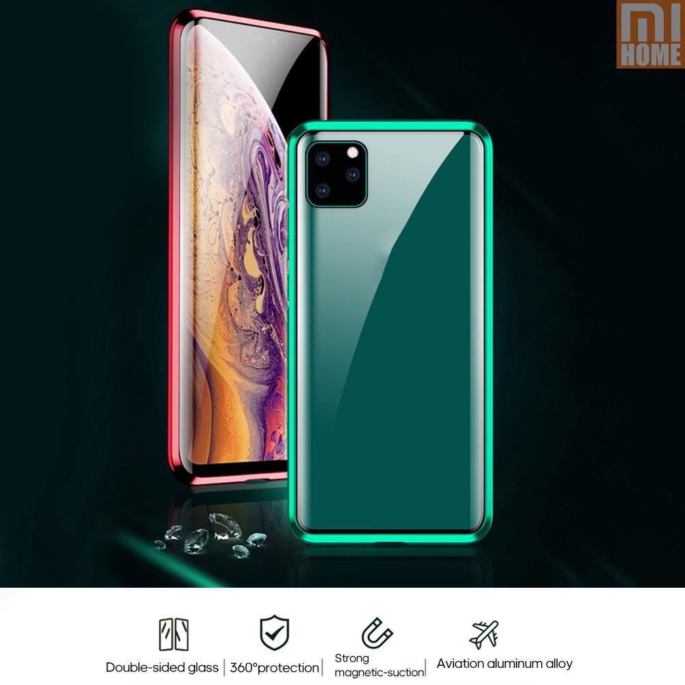 เคสโทรศัพท์มือถือแบบสองด้านสําหรับ iphone 11/pro/max