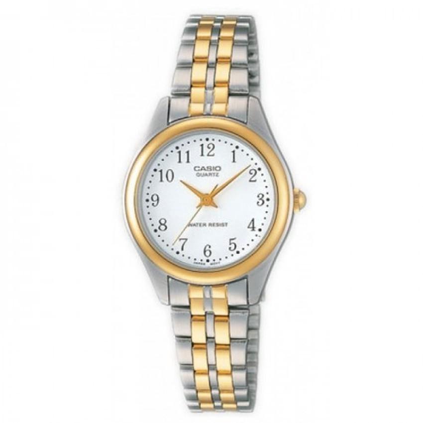 Casio นาฬิกาข้อมือผู้หญิง สายสแตนเลส รุ่น LTP-1129G-7BRDF-สีเงิน