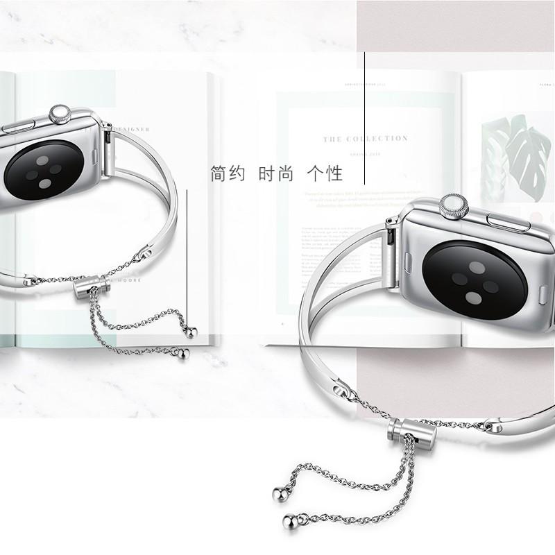 ﹍สำหรับ Apple Watch 4/5/6 หมายถึง iwatch5/4/3/ กับสาว 2/1 สายนาฬิกา Applewatch โลหะสแตนเลสกลวง iPhone Watch Series รุ่นท