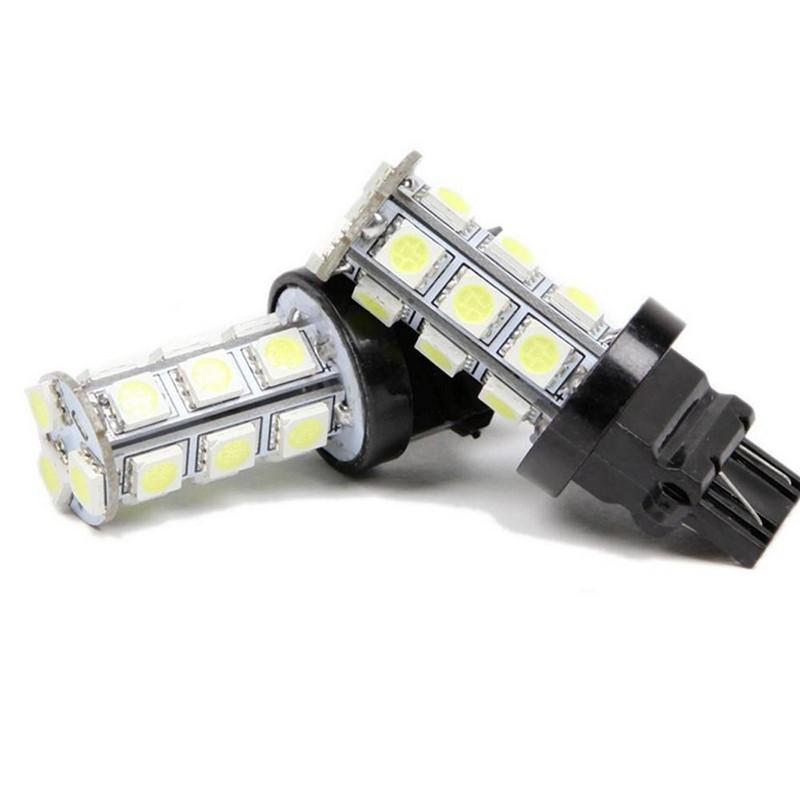 2x 3157 White T25 18SMD 5050 LED Reverse Back Up Brake Stop Turn Tail Light Bulb