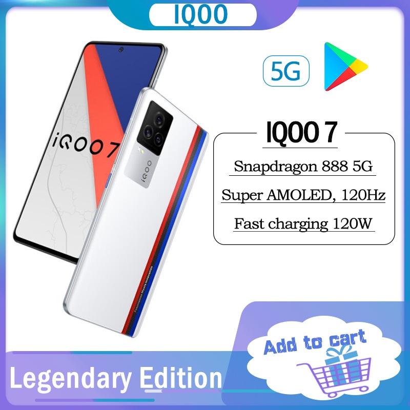 ﹍ต้นฉบับ iQOO 7 5G สมาร์ทโฟน Snapdragon 888 120W Dash ชาร์จ Ultra Fast Flash KPL การแข่งขันอย่างเป็นทางการเกมโทรศัพท์มือ