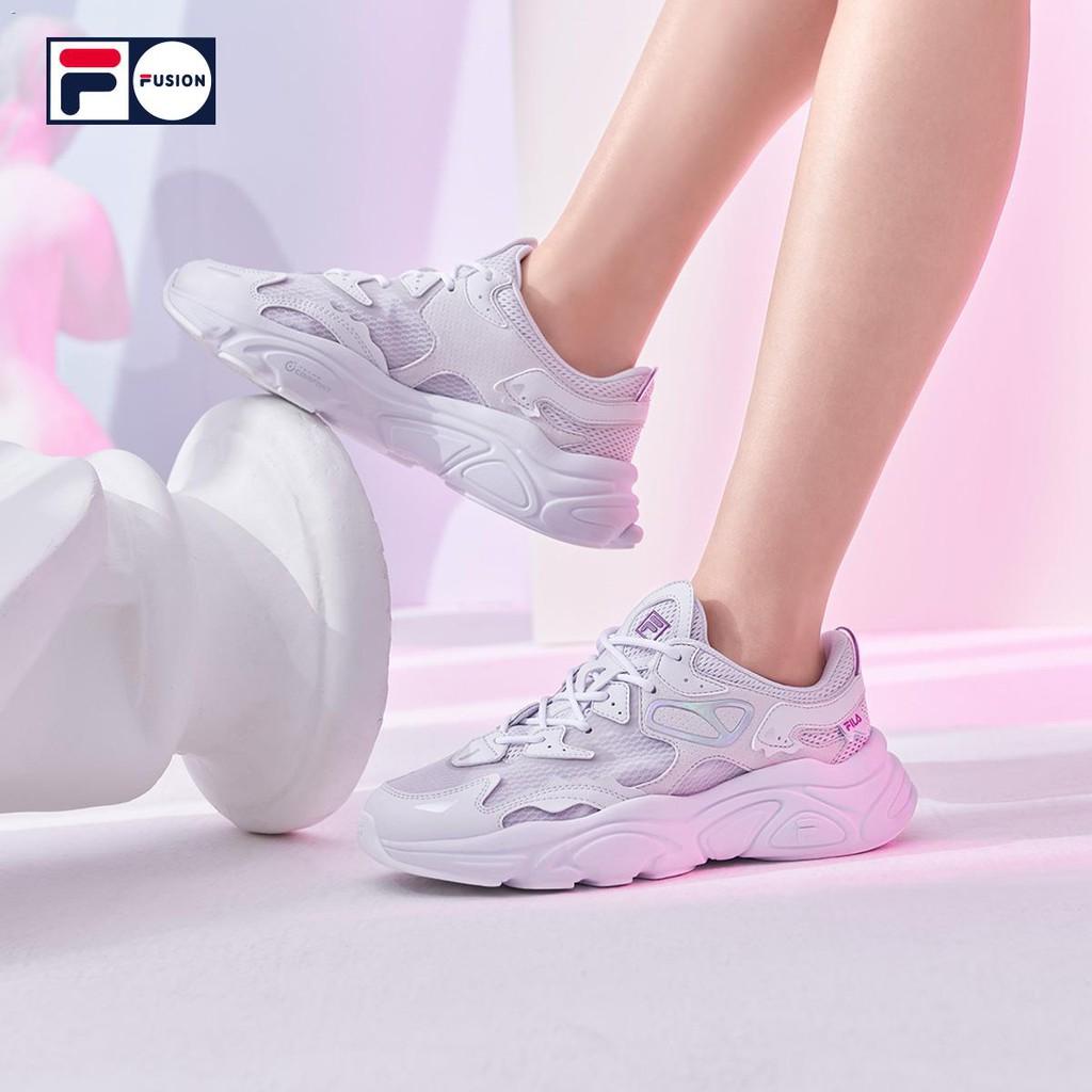 ✢◕FILA FUSION รองเท้าผ้าใบอินเทรนด์ของผู้หญิงฤดูร้อนปี 2021 แพลตฟอร์มแฟชั่นใหม่ Mars รองเท้ารองเท้าวิ่ง
