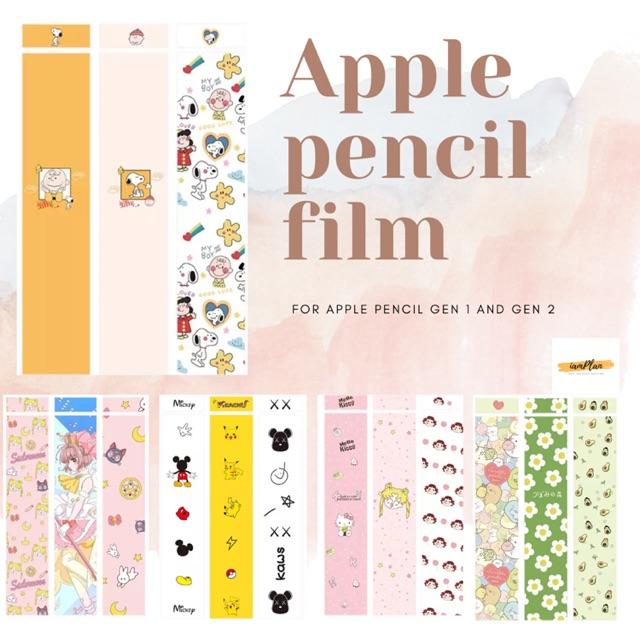 Apple pencil film gen 1/2 ลายการ์ตูน